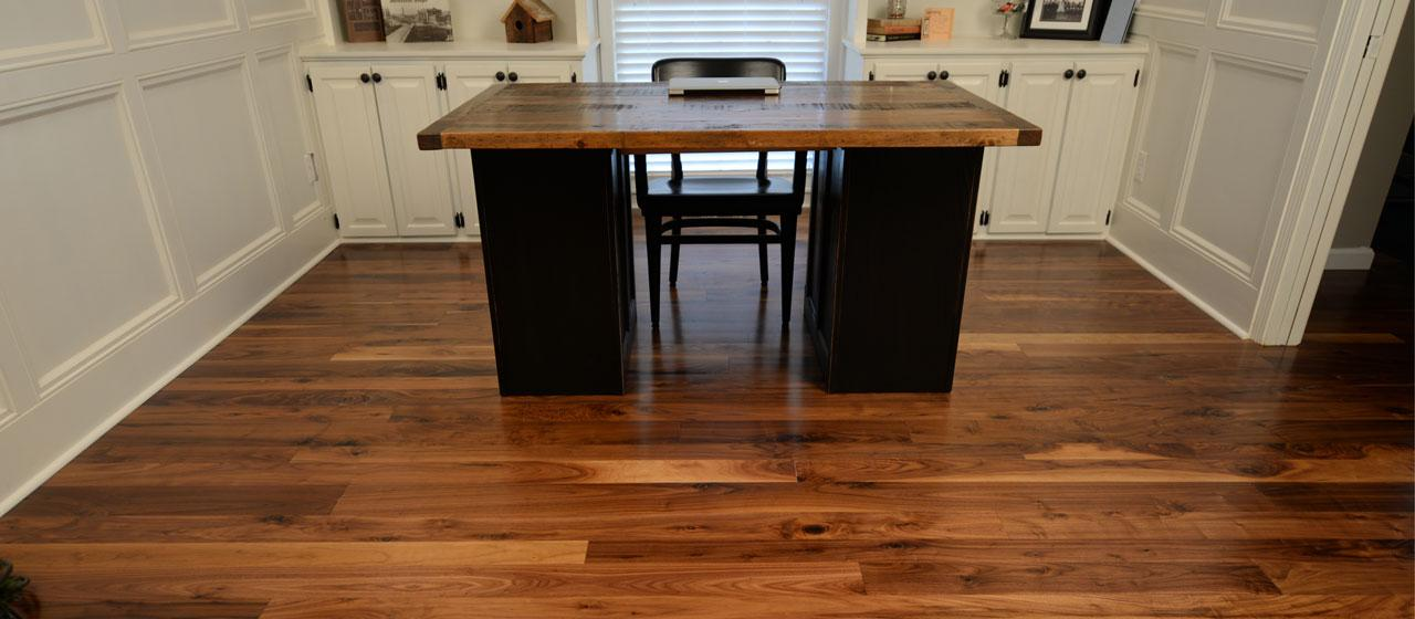 Lovely Wide Plank Walnut Hardwood Flooring Part - 3: Huggins Flooring